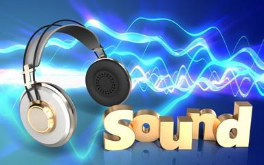 3d 'sound' sign blank