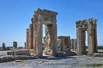 Tachara Palace of Darius at Persepolis ruins, Iran