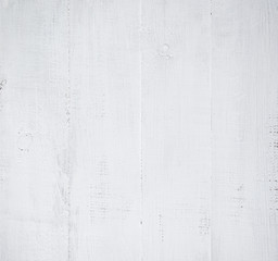 Wall Mural - white wooden wall