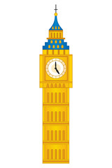 Vector Big Ben Tower. Vector London Big Ben