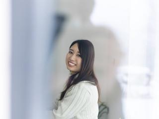 asian woman enjoying at home