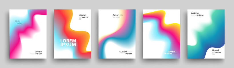 Modern Covers Template Design. Set of Trendy Abstract Gradient shapes for Presentation, Magazines, Flyers, Annual Reports, Posters and Business Cards. Vector EPS 10