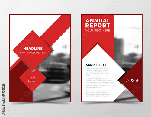 modern technology annual report cover brochure design business