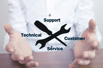 Wall Mural - Technical Support Customer Service