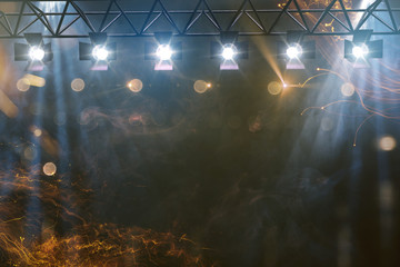 Bühnenshow mit Pyrotechnik