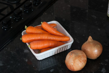 Carrots and onions