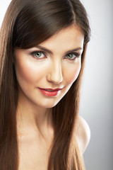 Beauty woman face portrait. Close up