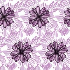 Purple Floral Geometric Pattern