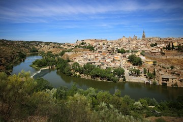 Panorama of the medieval city of Toledo