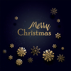 Christmas Typographical on shiny Xmas background. Merry Christmas card. Vector Illustration