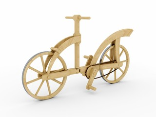 Wooden bicycle, Leonardo da Vinci, Codex Atlanticus/0133v