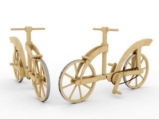 Wooden bicycle, Leonardo da Vinci, Codex Atlanticus/0133v