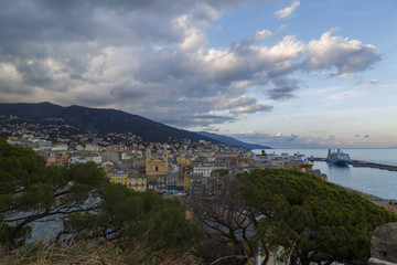 The Bastia City on The Corsica Island in France