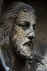 The face of Jesus Christ as a symbol of suffering and salvation of mankind. (healing, spiritual development, enlightenment - the concept)
