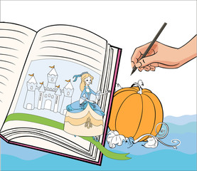 Cinderella comes to life at the hand of the artist and leaves the book