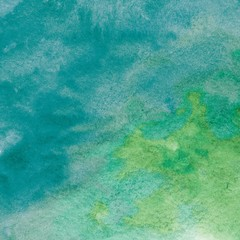 Turquoise Green Watercolor Background