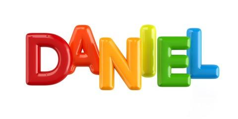 Bubbletext Name Daniel Fotomurales