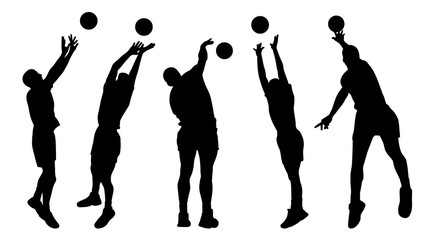 Men volleyball players