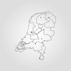Map Kingdom of the Netherlands