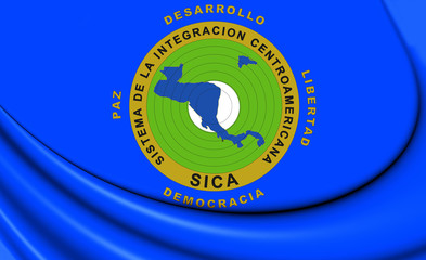 3D Flag of Central American Integration System.