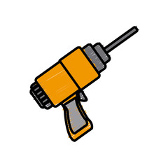 Electric drill tool icon vector illustration graphic design