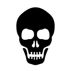 Skull vector silhouette icon