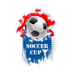Vector for soccer cup emblem for football club