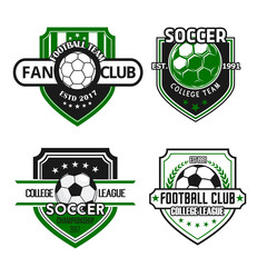 Vector icons for soccer team football fan club
