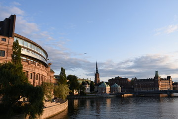 Stockholm, Gamla Stan, Stadtzentrum, Helgeandsholmen, Riksdagshuset, Reichstag, Reichstagsgebäude, Regierung, schwedischer Reichstag, Glas, Moderne