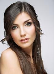 Close up woman face beauty portrait.