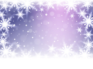Christmas snowflakes and snowdrift.