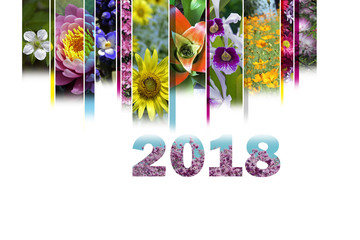 2018 with floral motif very cheerful and colorful