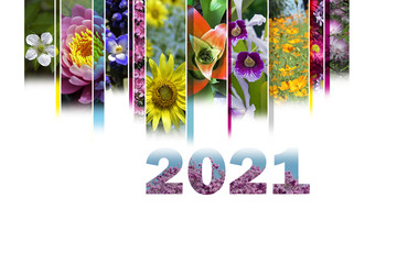 2021 with floral motif very cheerful and colorful