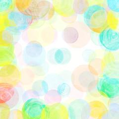 Watercolor polka dot pattern. Abstract watercolor pattern with colorful circles.