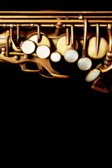 Deurstickers Muziek Saxophone jazz instrument sax