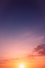 A photo of a heavenly sunset for wallpaper on your computer desktop.