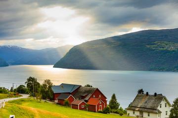 Landscape near Utvik on the Nordfjord Norway