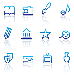 Icons of arts. Vector illustration