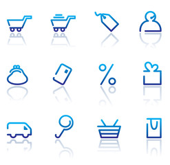 Shopping icon set. Vector illustration