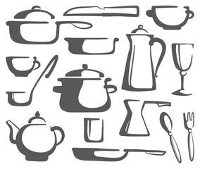 Kitchen ware. Vector illustration