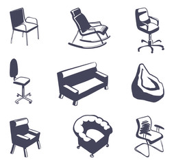 Furniture for sitting