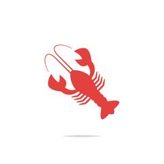 Lobster icon vector
