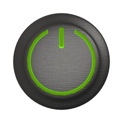3d rendering of power button icon with nice background