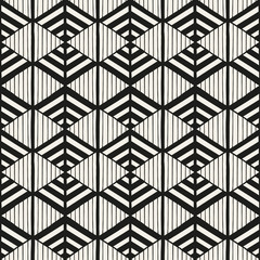 Geometric pattern seamless vector. Abstract modern stripped texture. Monochrome background for wallpaper, textile, fabric, wrapping paper, package or web design backdrop.