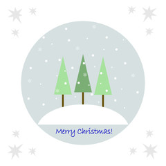 Winter background with Christmas trees2