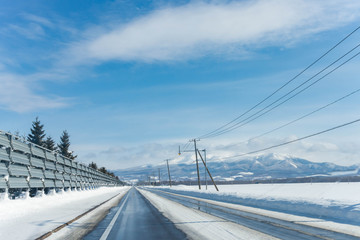 Winter road in japan
