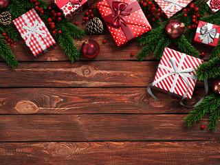 3D rendering dark christmas wooden background