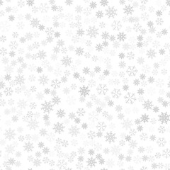 Festive Christmas background of snowflakes for your design of greeting cards, greeting, posters, invitations, websites. Winter seamless pattern for new year.