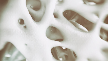 Osteoporosis -look into the bone - 3d rendering