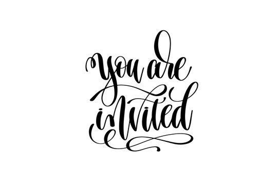you are invited hand lettering event invitation inscription
